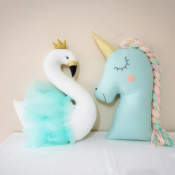 MINT SWAN PILLOW