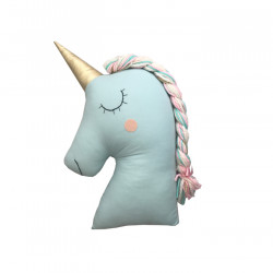 MINT UNICORN PILLOW