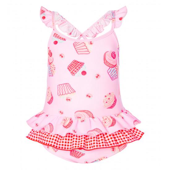 BABY GIRLS MINI CUPCAKE FRILL SWIMSUIT