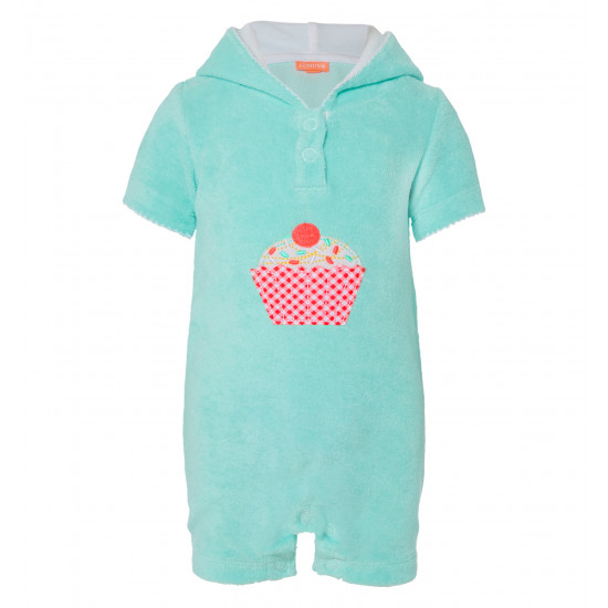 BABY GIRLS MINI CUPCAKE TOWELLING ONESIE