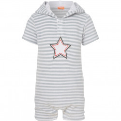 BABY BOYS STAR TOWELLING ONESIE