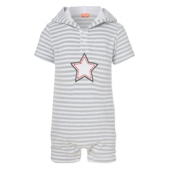 BABY BOYS STAR TOWELLING ONESIE