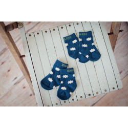 BLUE DAISY SOCKS