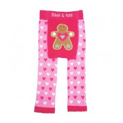 PINK GINGERBREAD BABY LEGGINGS