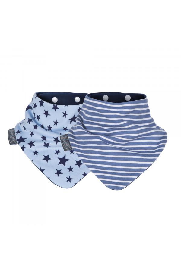 BLUE STARS & STRIPES NECKERBIBS