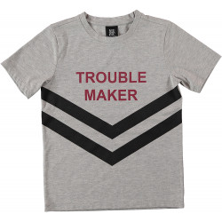 TROUBLE MAKER TEE / GREY MEL