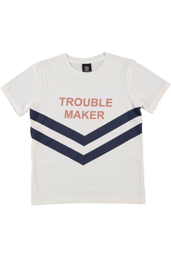 TROUBLE MAKER TEE / WHITE