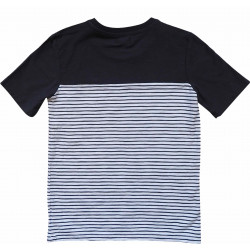 COLOR BLOCK TEE NAVY-WHITE