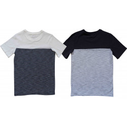 DOUBLE COLOR BLOCK TEE
