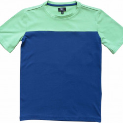COLOR BLOCK TEE NAVY-GREEN