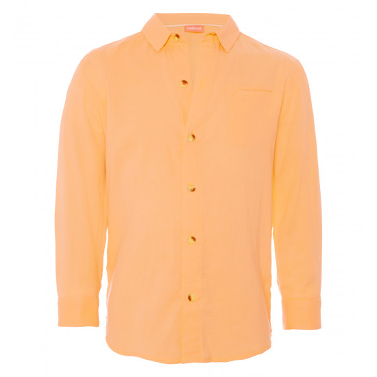 BOYS SHERBET ORANGE COTTON SHIRT