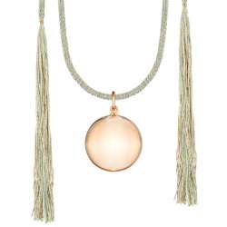 ACAPULCO MATERNITY NECKLACE PINK GOLD GREEN CORD