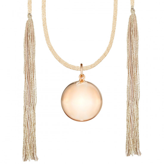 ACAPULCO MATERNITY NECKLACE PINK GOLD CAMEL CORD
