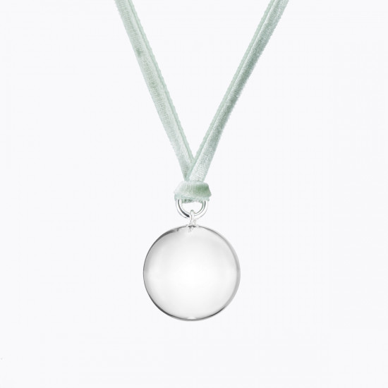 VELVET PREGNANCY NECKLACE SILVER