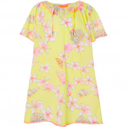 GIRLS FRANGIPANI KAFTAN DRESS