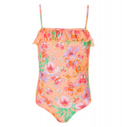 GIRLS TROPICAL BUTTERFLY SWIMSUIT