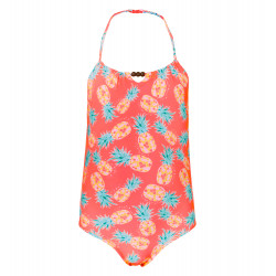 GIRLS NEON PINEAPPLE SWIMSUIT