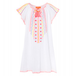 GIRLS WHITE CHEESECLOTH DRESS