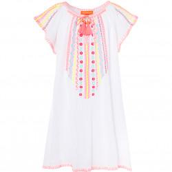 GIRLS WHITE CHEESECLOTH DRESS