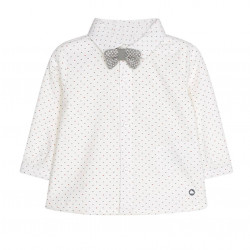LONG SLEEVED SHIRT WITH BOWTIE FOR BABY BOY