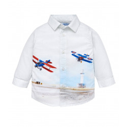 LONG SLEEVED SHIRT WITH PRONT FOR BABY BOY