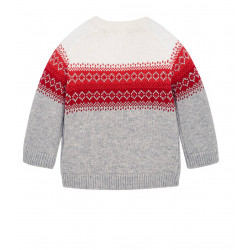 JACQUARD JUMPER FOR BABY BOY