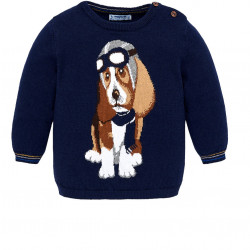 DOG DESIGN JUMPER FOR BABY BOY