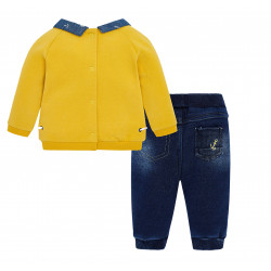 SET WITH DENIM TROUSERS FOR BABY BOY