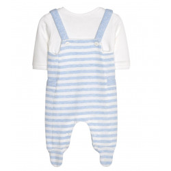 STRIPED ONESIE FOR BABY BOY