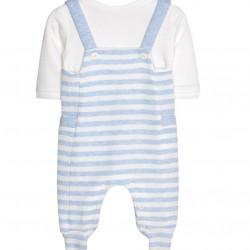 STRIPED ONESIE FOR BABY BOY