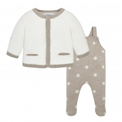KNIT DUNGAREE SET FOR BABY BOY