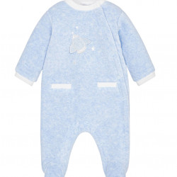STAR PATTERNED VELOUR PYJAMAS FOR BABY BOY
