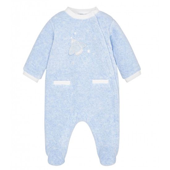 STAR PATTERNED VELOUR PYJAMAS FOR BABY BOY