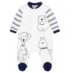 VELOUR DOGGY MOTIF PYJAMAS FOR BABY BOY