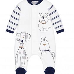 VELOUR DOGGY MOTIF PYJAMAS FOR BABY BOY