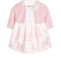 DRESS WITH CARDIGAN FOR BABY GIRL