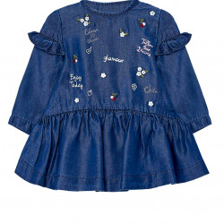 EMBROIDERED DENIM DRESS FOR BABY GIRL