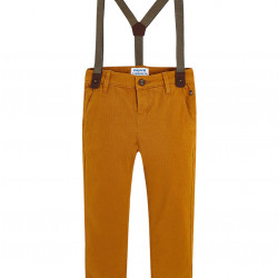 CHINO TROUSERS WITH BRACES FOR BOY SLIM FIT