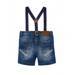 DENIM SHORTS WITH SUSPENDERS FOR BABY BOY