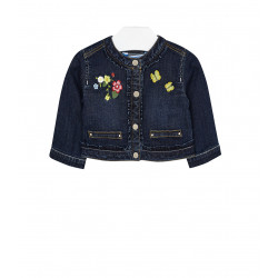 EMBROIDERED JEAN JACKET FOR BABY GIRL