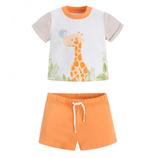 TWO-PIECE SET OF BABY BOY T-SHIRTS AND SHORTS