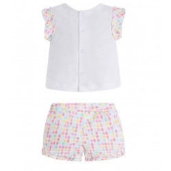 TWO-PIECE SET OF T-SHIRTS AND SHORTS FOR BABY GIRL