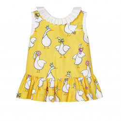 GEESE PRINT DRESS FOR BABY GIRL