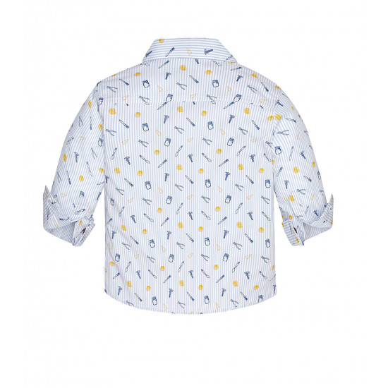 PATTERNED LONG SLEEVE SHIRT FOR BABY BOY