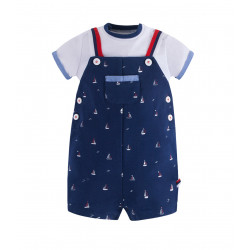SET OF PATTERNED DUNGAREES FOR BABY BOY