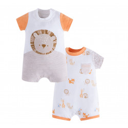 SET OF TWO BABY BOY PYJAMAS