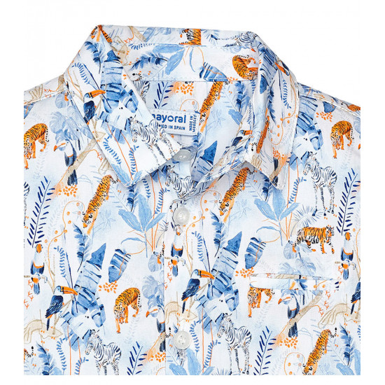 SHORT SLEEVE PATTERNED SHIRT FOR BOY