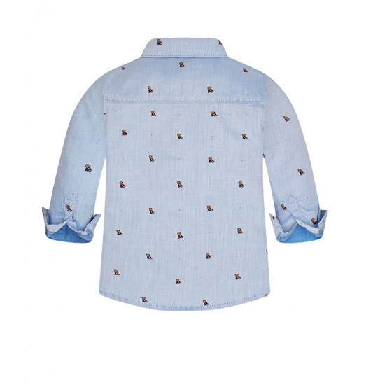 BABY BOY PATTERNED LONG SLEEVE SHIRT