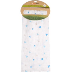 BLUE TRIANGLE PRINTED MUSLIN