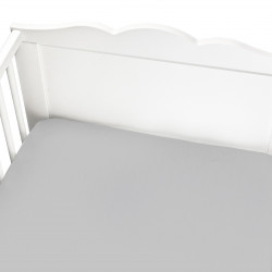 GREY FITTED CRIB SHEET